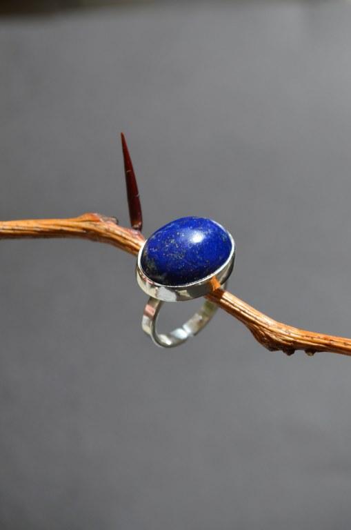 Χειροποίητο ασημένιο δαχτυλίδι με Λάπις Λαζούλι